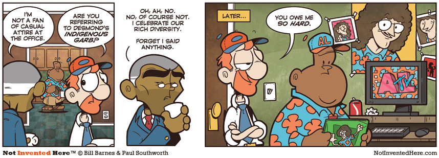 Not Invented Here comic strip for 11/16/2009