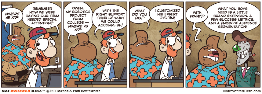 Not Invented Here comic strip for 12/8/2009