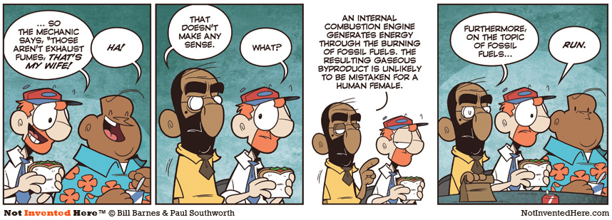 Not Invented Here comic strip for 8/16/2010