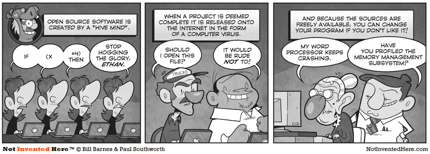 Not Invented Here comic strip for 10/18/2010