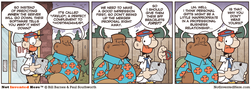 Not Invented Here comic strip for 6/8/2011
