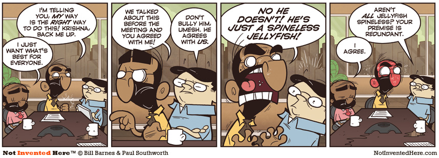 Not Invented Here comic strip for 7/19/2011
