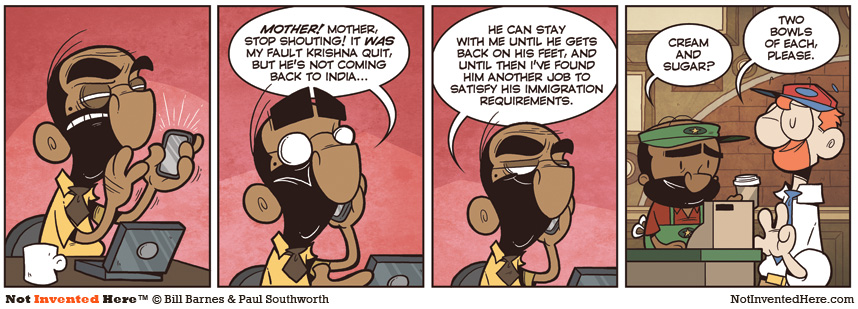 Not Invented Here comic strip for 7/21/2011