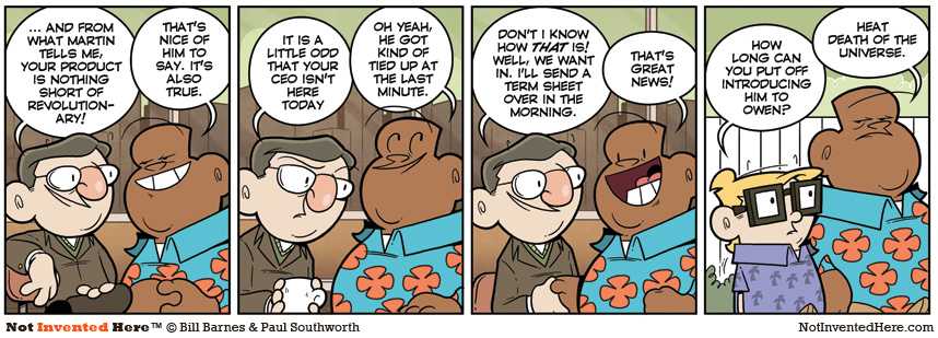 Not Invented Here comic strip for 8/11/2011