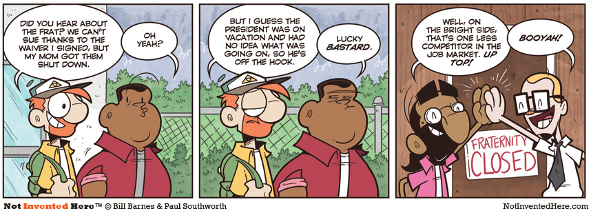 Not Invented Here comic strip for 12/28/2011