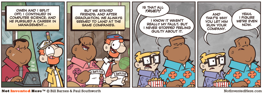 Not Invented Here comic strip for 12/29/2011