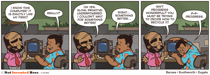 Not Invented Here comic strip for 3/20/2012