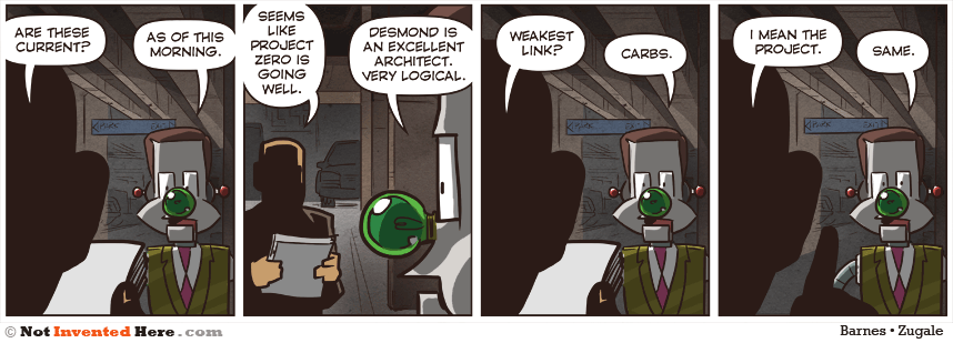 Not Invented Here strip for 8/28/2014